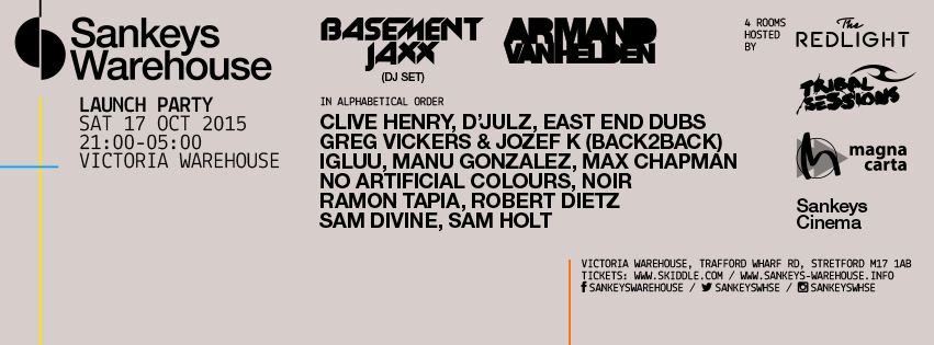 Sankeys Warehouse line-up BOOM!