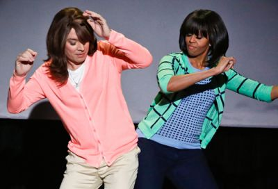 Michelle Obama Hip Bump With Jimmy Fellon For Obesity