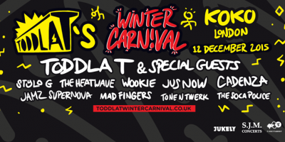 Win 2 tickets to Toddla T's Winter Carnival!