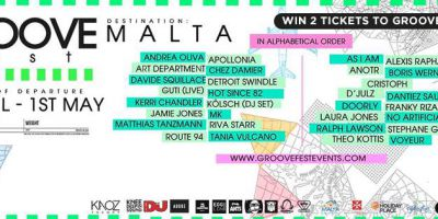 Win 2 VIP Tickets to GrooveFest in Malta!