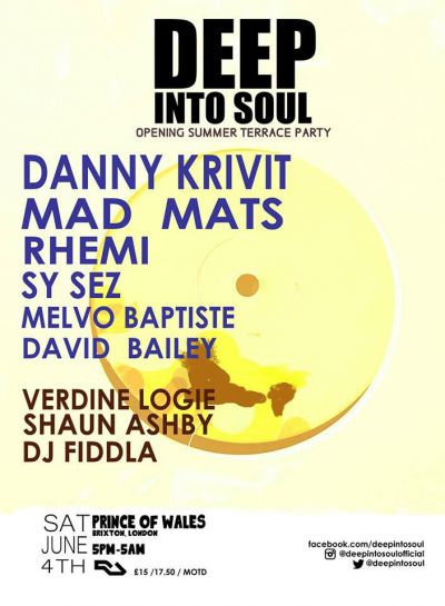 Win One of 5 pairs of Tickets to the Deep Into Soul Summer Terrace Opening Party