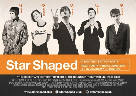 Star Shaped Club London - A Monthly Britpop Party!