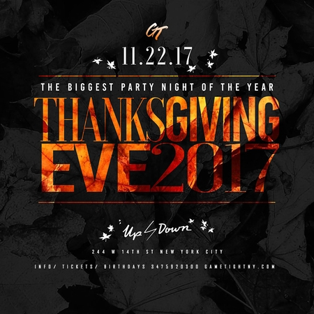Up & Down NYC Thanksgiving Eve party 2017
