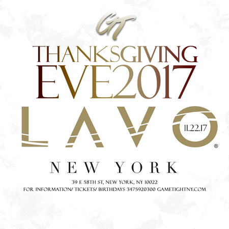 Lavo NYC Thanksgiving Eve party 2017