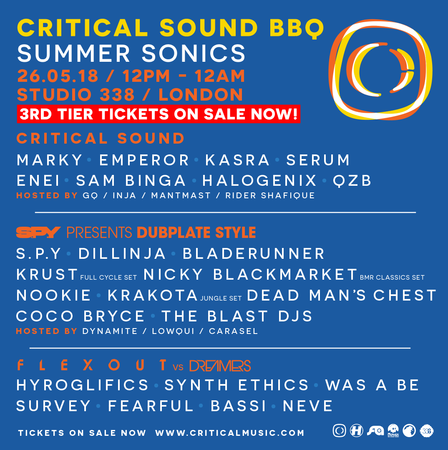 Critical Sound BBQ - Summer Sonics - London on 26th May