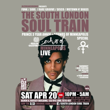 The South London Soul Train Prince Special with Echoes Of (Live) + More