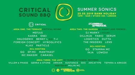 Critical Sound BBQ London - Summer Sonics w/ Mefjus, DJ Marky, Dillinja