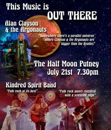Alan Clayson and The Argonauts Kindred Spirit Band Half Moon Sun 21 Jul