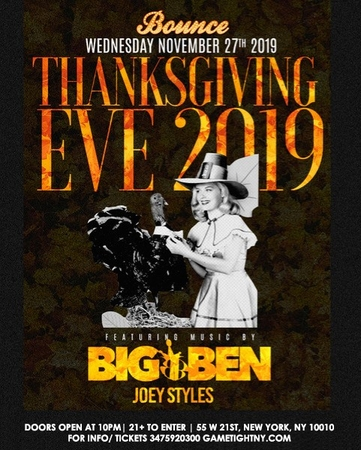 Bounce Sporting Club Thanksgiving Eve Party 2019